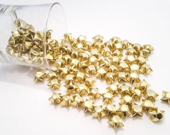 Origami Stars ~ Gold Metallic Lucky Stars ~ 100 Count ~ Origami Wishing Stars ~ Party Decoration ~ Wedding Decor ~ Party Favor ~ Baby Shower
