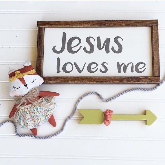 Jesus Loves Me .  Jesus . Bible Verses .Gender Neutral Nursery . Big Boy Room .  Nursery Sign . Baby Shower . Boho Sign