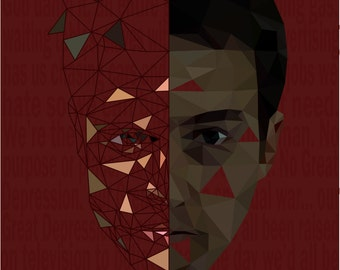 Fight Club abstract polygon art poster