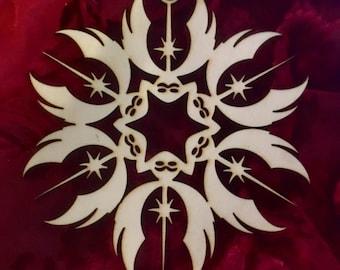 """Star Wars Jedi Order Laser Cut Wood """"Snowflake"""" Ornament"""