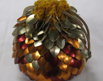 Scalemail Dice Bag of Holding Knitted Dragonhide Pheonix