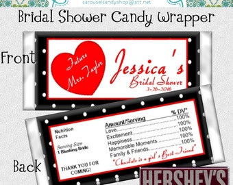 I Love Lucy Inspired Theme Candy Wrappers Bridal Shower Party Favors