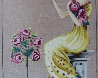 Embroidery Peony Garden