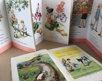 Vintage early reading books