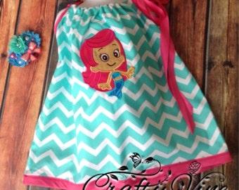 Bubble girl pillowcase dress