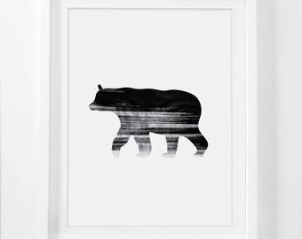 Rustic Bear Art, Bear, Bear Art Print, Black Bear, Bear Wall Art, Black Bears, Woodsy, Wildlife Decor, Wildlife Prints, Wildlife Art