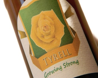 Tyrell Beer Labels, Game of Thrones, Game of Thrones Gift, Growing Strong, Stocking Stuffer (Sheet of 9 labels)