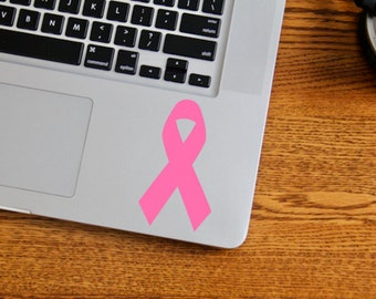 Cancer Ribbon Vinyl Decal, Breast Cancer Awareness, Think Pink, Laptop Decal, Car Decal, Window Decal, Window Vinyl,  Christmas Gift