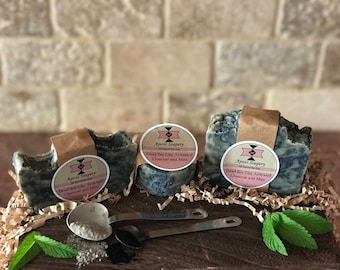 Dead Sea Clay Activated Charcoal and Mint Bar Soap