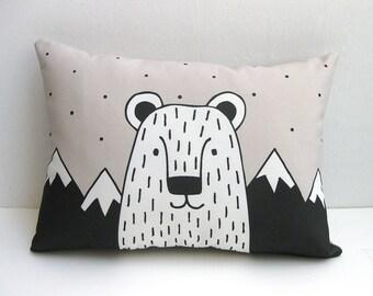 Bear Cushion, Bear Throw Pillow, Bear Pillow, Animal Cushion, Animal Pillow, Decorative Cushion, Decorative Pillow