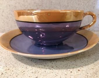 Japanese Lusterware Cup and Saucer