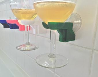 Bathtub shower wine glass holder - pick your color - 3d printed by SOLIDink3d