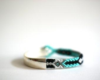 Duo Bracelet. Silver Tone.