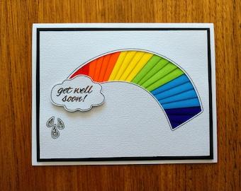 Get Well Soon Card | Rainbow | Iris Fold