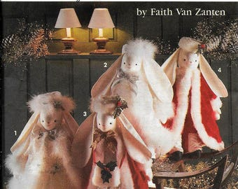 Simplicity Crafts 8101 Christmas Angel Bunny Bunnies By Faith Van Zanten Sewing Pattern UNCUT
