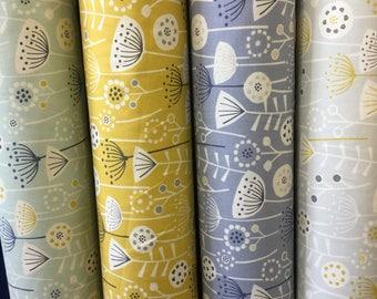 Fryetts Bergen Scandinavian style cotton fabric by the metre