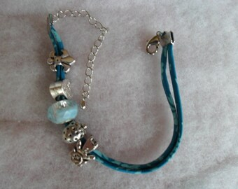 Bracelet lace silk and cotton