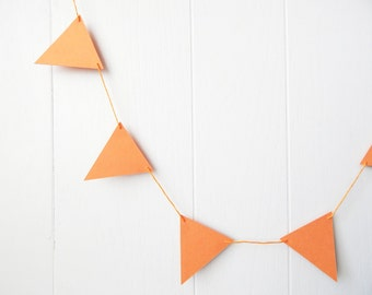 Triangle Garland Bunting Orange 10 ft