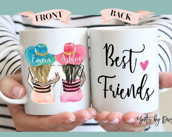 Gift, Personalized Best Friend Gift, Best Friend Gift, Mothers Day gift, Friendship gift, coffee mug, Unique Friendship Gift, Best friends