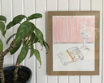 Drawings on paper, Brassens and me