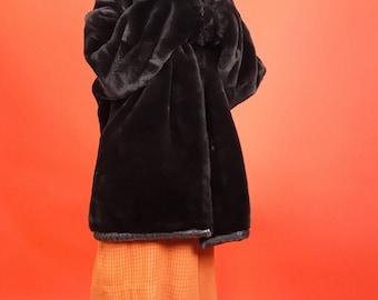 Teddy bear faux fur & lambskin coat L