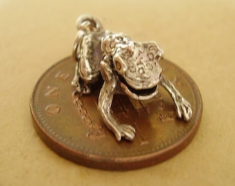 Sterling Silver 3D Moving Frog Charm Charms