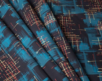 Mid century inspired atomic interior fabric by the half metre 'Twilight'