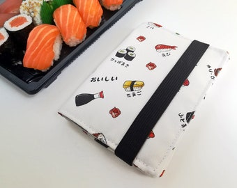 Sushi passport cover made with Poly Outdoor Fabric, Water Resistant, Passport Holder, Passport Bag, Passport Wallet, Travel Accessories
