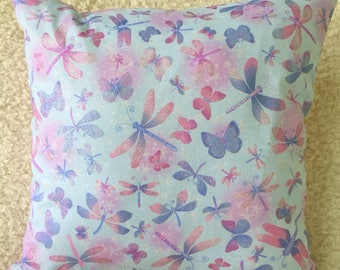 Butterfly Cushion Cover, Blue Cushion Cover, Pink Cushion Cover, Living Room, Girls Room, Housewarming Gift, Birthday Gift, Gift for Her