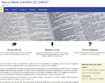 Church Website with Sermon Podcasts and Itunes Integration Available