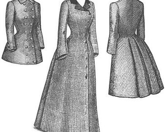 TV560 - 1880s Late Bustle Coat Sewing Pattern by Truly Victorian