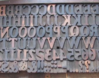 "2"" Authentic Vintage Wood Letterpress Printers Blocks"