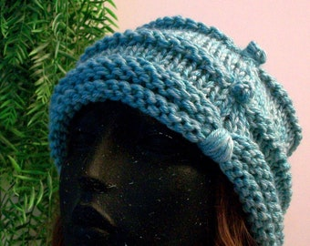 HAT WOMEN KNITTED Bulky Chunky Cloche Women Clothing Hat Accessory Beanie Headwarmer