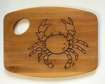 Crab Cutting Board    Pyrography