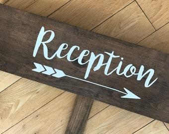 "Wedding Directional Sign ""Reception"""