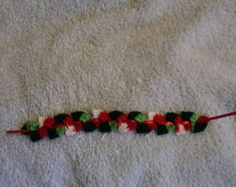 Hand crocheted bookmark book mark thread ribbon
