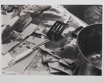 Cooking utensils kitchen vintage art photo