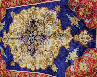 Boho area rug, handmade rug, kashmir silk rug, persian rug, bohemian home decor, wall decor, bedroom rug, decorative rug, oriental