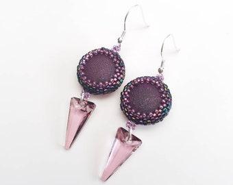 Raspberry Kiss Earrings