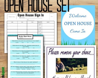 Ultimate Open House Set | Real Estate Agents | Realtor | Real Estate Marketing | Open House Sign In Sheet