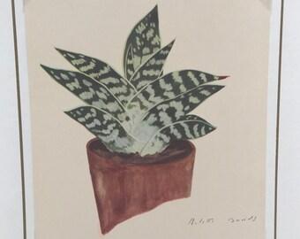 1940s Cactus Print