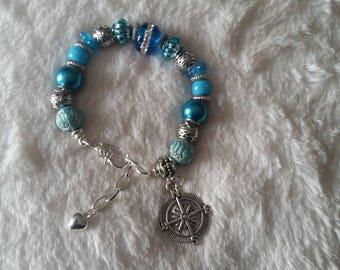 Charm bracelet nautical beach ocean
