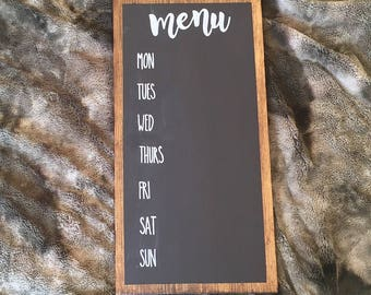 Chalkboard Menu Wood Sign