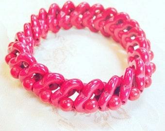 Vintage Red Magnesite Bracelet, Estate Jewelry From NorthCoastCottage Jewelry Design & Vintage Treasures
