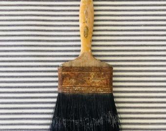 Old Paint Brush . Natural Bristle Brush . Industrial Farmhouse Decor . Rustic . Fixer upper