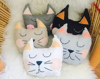 Linen cat pillows