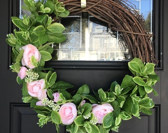 Simple Pink Wreath
