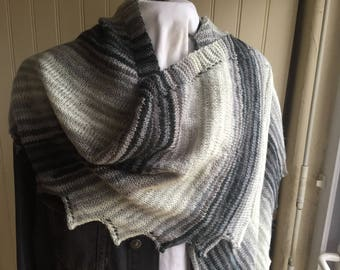 "SCARF-shawl, wool and MOHAIR ""Issue"", knitted with wool bayadere needles, comfortable and lightweight"