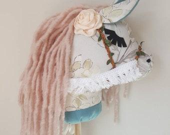 Hobby horse//Birthday gift//Christmas//baby shower//stick horse//keppihevonen