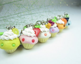 Fruit Cupcake Bracelet, food jewelry, food bracelet, friend gifts, cupcake bracelet, cupcake jewelry, fruit bracelet, food gifts, cute clay